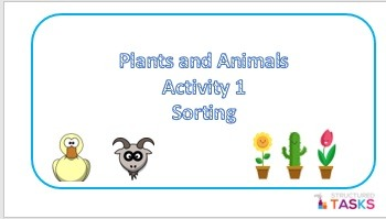 Plants ans Animals Sort - Autism, Special Ed