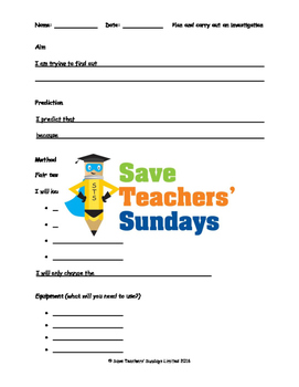 Plants science investigation Lesson plan, Writing frames a