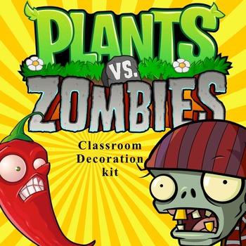 Plants vs Zombies Classroom Decor