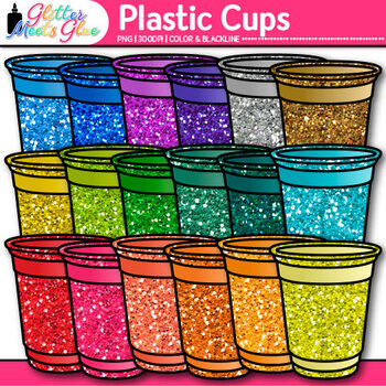 Plastic Cups Clip Art {Party and BBQ Graphics for Classroo