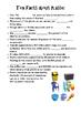Plastics Crossword Printable and Cloze Activity