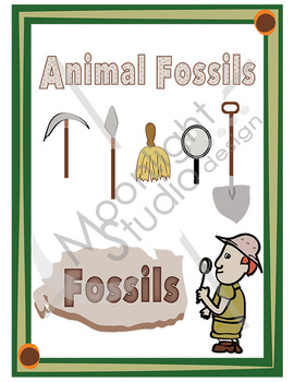 Plant and Animal Fossil Clip Art Bundle