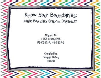 Plate Boundaries Graphic Organizer Gr. 6-8