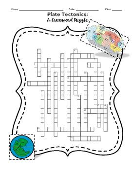 Plate Tectonics : A Crossword Puzzle