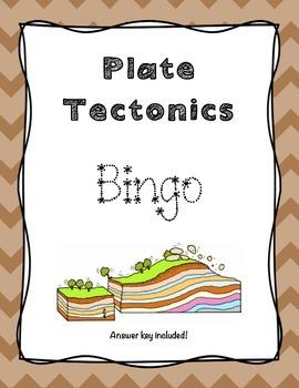 Plate Tectonics Bingo