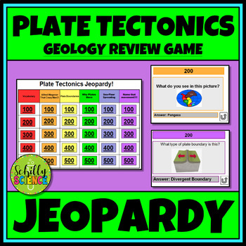 Plate Tectonics Jeopardy! Continental Drift