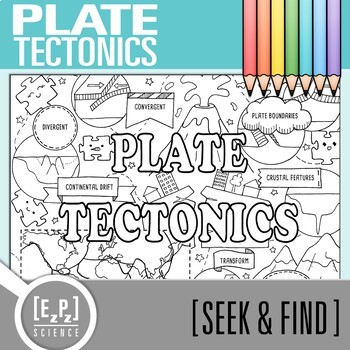 Plate Tectonics Seek & Find Doodle Page