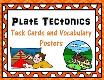 Plate Tectonics Task Cards and Vocab Posters