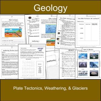 Plate Tectonics, Weathering, & Glaciers: Earth Science-Geology
