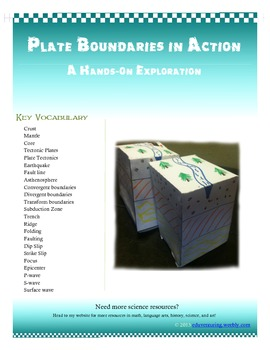 Plate Tectonics in Action - Hands on Science - Common Core
