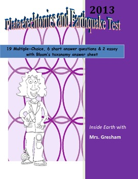 Platetechtonics and Earthquake Test