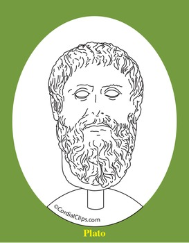 Plato Clip Art, Coloring Page, or Mini-Poster
