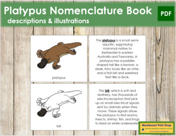 Platypus Nomenclature Book