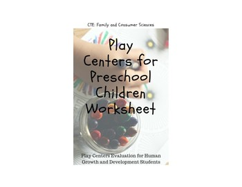 Play Centers for Preschool Children Worksheet