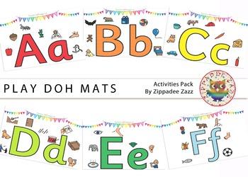 DOLLAR DEAL Play Doh Alphabet Mats / Posters - Boardmaker