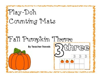 Play-Doh Counting Mats - Fall Pumpkin Theme
