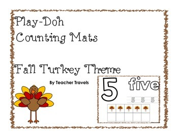 Play-Doh Counting Mats - Fall Turkey Theme
