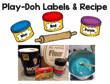 Play-Doh Labels and Recipe