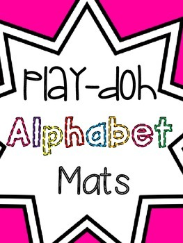 Play-Doh Mats { Lowercase }
