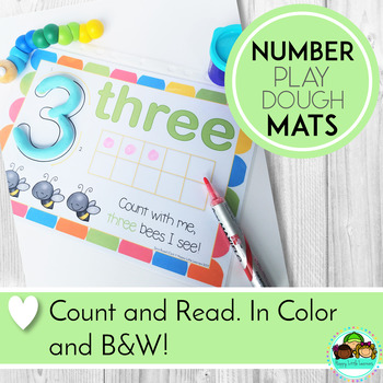 Play Doh (Play Dough) Mats: Numbers 1 - 20, With Ten Frame