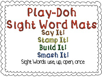 Play-Doh Sight Word Mats for Sight Words: use, up, open, once