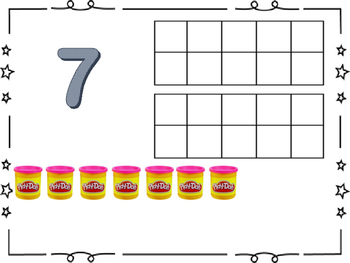 Play-Doh Ten Frame Counting