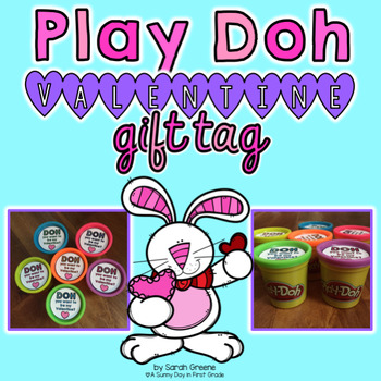 Play Doh Valentine Gift Tag {freebie!}