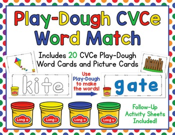 Play-Dough CVCe Word and Picture Match - Make and Match Lo