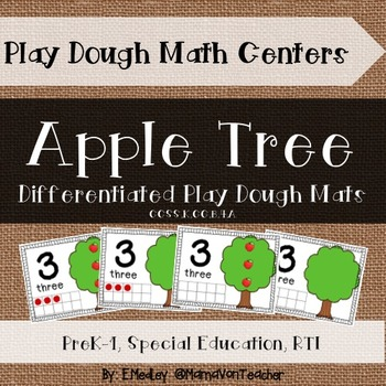 Interactive Play Dough Math Centers: Differentiated Apple