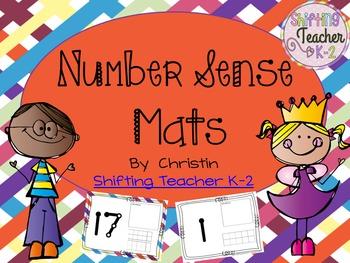 Play Dough Math Mats - Number Sense - Tens Frames - Tallies