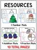 Winter Math Play Dough Mats