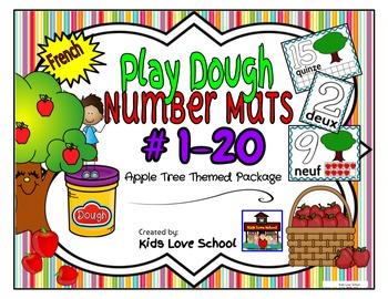 Play Dough Mats-#1-20-Apple Tree Theme FRENCH Version Lots