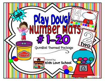Play Dough Mats-#1-20-BubbleGum Theme ENGLISH Version Lots