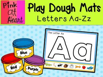 Play Dough Mats - Aa-Zz