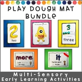 Play Dough Mats Early Learning BUNDLE: Letters, Numbers, &