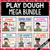 Play Dough Mats Kindergarten Basic Skills MEGA BUNDLE - Year Long