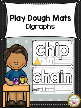 Digraphs Play Dough Mats
