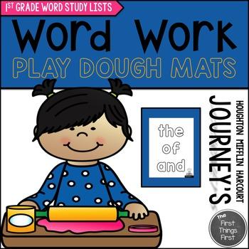 Play Dough Mats {JOURNEY'S FIRST GRADE WORD STUDY}