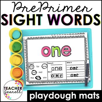 Sight Words Play Dough Mats (Pre-Primer List)