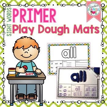 Sight Words Play Dough Mats - (Primer List)