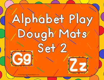 Play Dough Mats Set 2