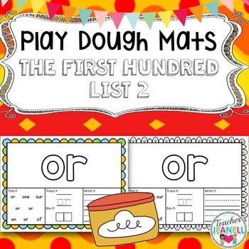 Sight Words (The First Hundred-List 2) - Play Dough Mats