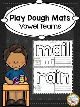 Vowel Teams Play Dough Mats