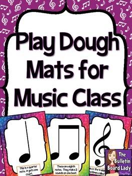 Play Dough Mats for Music Class