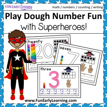 Play Dough Number Fun with Superheroes