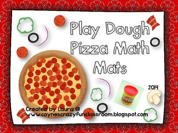 Play Dough Pizza Math Mats