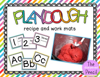 Play Dough Recipe and Work Mats