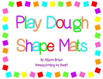 Play Dough Shape Mats