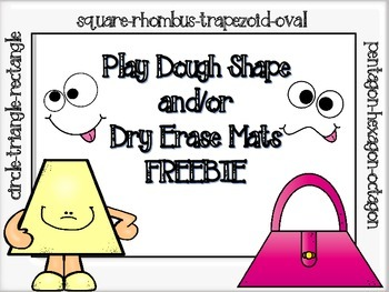 FREEBIE Play Dough Shape and/or Dry Erase Marker Mats