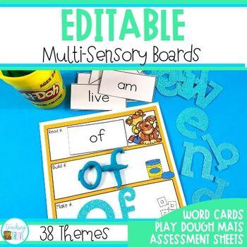 Play Dough Sight Word Mats – Editable